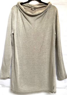 384fdf18b4b0f2 NWT Coldwater Creek Size Large 14 16 Cowl Seater Pullover Tunic Long Sleeve  b16