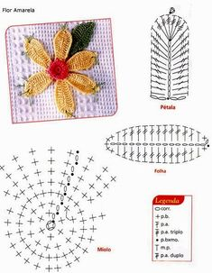 Bildergebnis für flor catavento em croche graficos