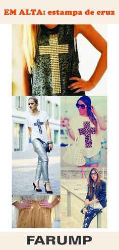 As estampas com desenhos de cruzes ganharam as ruas e estão fazendo sucesso nos looks das fashionistas!