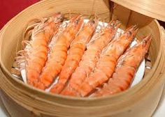 for chinese new year ~ steamed prawn
