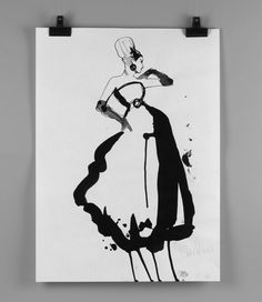Stina Persson, really nice bold lines bringing out the actual form of the silhouette