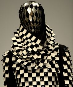 Gareth Pugh's emblematic chevron is also one of the symbols of Art Deco, and the glamour of the Deco years in Hollywood. was one of the sub-currents in the designer's latest collection. 2010