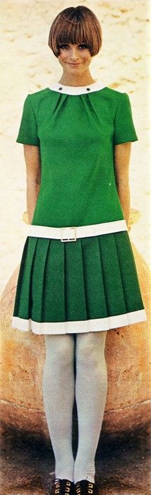 Pleated, low-belted Dress,1960's  loved this style. Used to make shifts with a belt at the hips.