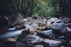 Rocks, Stream, Water, Nature