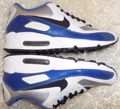 Nike Air Griffey Max 1 (TD) White / Digital Pink-Game Royal 552985 100 EUC  S/8C | Pink games, Nike air and Leather