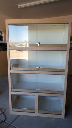 Home made reptile bookcase - Terrarium Ideas - Beef