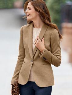 Luxe camel hair jacket | Talbots
