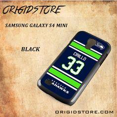 Seahawks Cirillo 33 Black White Snap On 3D For Samsung Galaxy S4 Mini Case