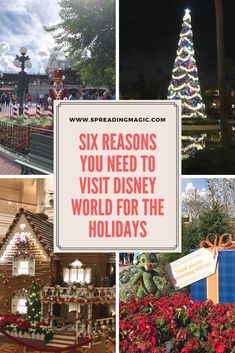 From gingerbread houses to larger than life Christmas trees, here are the top six reasons you need to visit Disney World for the 2019 holiday season Disney World Hotels, Disney World Theme Parks, Disney Destinations, Disney World Vacation, Disney Cruise Line, Disney Vacations, Hollywood Tower Hotel, Beach Club Resort, Very Merry Christmas Party