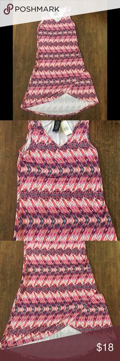 BNWT Design History Dress-Size Missy M BNWT Design Studio Pink Arrow Print Sleeveless Viscose/Spandex Dress Missy Medium.  Hand Wash.  From clean and smoke free home. Bust 18 Inches armpit to armpit  Hips 20 Inches Across Laying Flat  Length 44 Inches Designs History Dresses