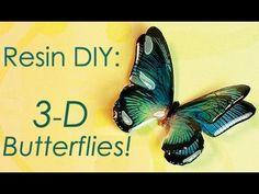 Little Windows 3-D Butterflies! - YouTube