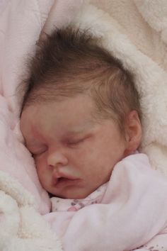 Reborn Baby Doll Rebornbaby Girl mono rooted hair Twin B by Bonnie Brown new