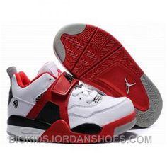 best service af9b2 39a5b Kids Air Jordan 4 Retro Low Red White Black, cheap Jordan Kids, If you want  to look Kids Air Jordan 4 Retro Low Red White Black, you can view the Jordan  ...