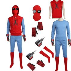 Include the full suit as the pictures show ! The above options of size (XXS/XS/S/M/L/XL/XXL). Also note that monitor settings may vary from computer to computer and may distort actual colors. What size should I buy? Spiderman Homecoming Suit, Homecoming Suits, Spiderman Suits, Spiderman Costume, Belle Halloween Costumes, Blue Costumes, Costumes For Teens, Cosplay Costumes, Diy Costumes