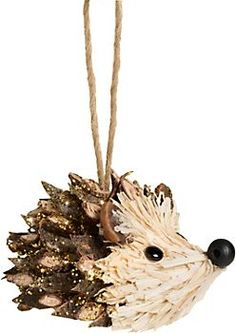 Glitter Pinecone Hedgehog Ornament available at PaperSource