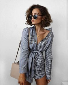 10 Outfit Essentials You Need For Spring Break Gorgeous! More Colors – More Summer Fashion Trends To Not Miss This Season. The Best of summer fashion in Style Outfits, Summer Outfits, Fashion Outfits, Womens Fashion, Short Hair Outfits, Style Clothes, Work Clothes, Fashion Trends, Vetements Shoes