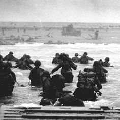 1st Infantry Division on Omaha Beach June 6, 1944 D-Day
