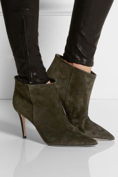 Jimmy Choo | Legion suede-trimmed leather ankle boots | NET-A ...