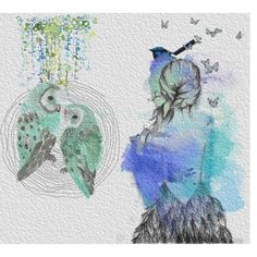 """""""Blue owls"""" by aloparic on Polyvore"""