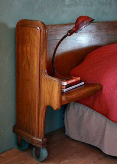 Church Pew to Headboard 26 Ordinary Objects Repurposed Into Extraordinary Furniture Headboard Designs, Redo Furniture, Painted Furniture, Home Furniture, Furniture Diy, Upcycle Dresser, Recycled Furniture, Home Diy, Furnishings