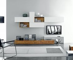 Moderne Design TV Wohnwand FGF Mobili C22B