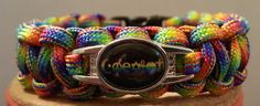 LGBT Gay Pride Rainbow Cobra Style Paracord by DesignerParacord