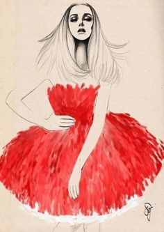 art, drawing, fashion, girl, thelovedbird