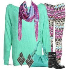 """Aztec Leggings"" by tayswift-1d on Polyvore"