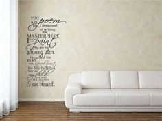 You are the poem I dreamed of writing the masterpiece I longed to paint You are the shining star I reached for in my ever hopeful quest for life fulfilled You are my child Now with all things I am blessed Vinyl Wall Decals Quotes Sayings Words Art Decor Lettering Vinyl Wall Art Inspirational Uplifting