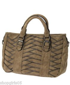 NEW !! BEAUTIFUL  TAUPE COLORED PURSE.  HAS ZIP TOP CLOSURE.  MEASURES APPROX. 14 INCHES WIDE BY 10 INCHES TALL AND 5.5 INCHES DEEP. REALLY PRETTY!!!!