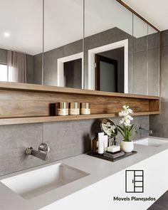 Já imaginou, este lindo armário em seu banheiro!? #moveispersonalizados  #moveisdemadeira  #planejados  #moveisdeluxo  #designdeinteriores…