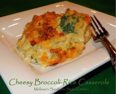 Melissa's Southern Style Kitchen: Cheesy Broccoli-Rice Casserole