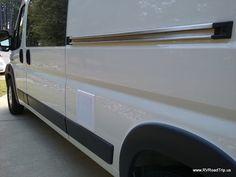 Ram ProMaster Camper Van Conversion RV Rv Campers, Camper Trailers, Camper Van, Van Conversion Air Conditioner, Ac Replacement, Window Ac Unit, Ram Promaster, Cargo Van, Trailer Remodel