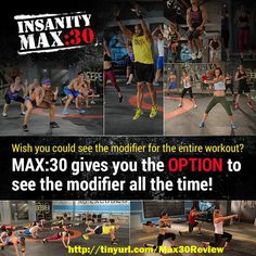 Think Insanity Max 30 will be too hard?.. Well it will be harder than Insanity BUT... Insanity Max 30 offers you the chance to see a modifier the whole time! http://www.onesteptoweightloss.com/insanity-max-30-review #Insanity2Max30