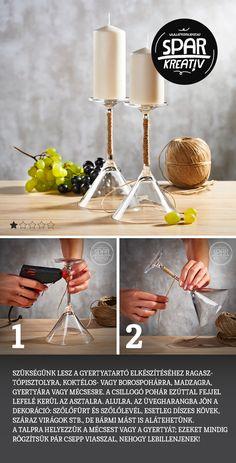Pohár mint gyertyatartó: Készítsünk egyszerű és stílusos asztaldíszt!