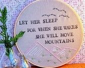 Let Her Sleep, For When She Wakes, She Will Move Mountains - Modern Baby Wall Art. $25.00, via Etsy.