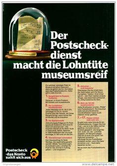 Original-Werbung/ Anzeige 1969 - POSTSCHECK - KONTO / DEUTSCHE BUNDESPOST - ca. 180 x 240 mm