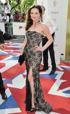 Lara Pulver rocking 'Pellica' by Project D at the BAFTA Awards 2012 #Sherlock #TrueBlood