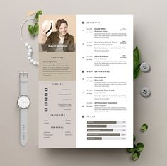 Elegant page designs are easy to use and customize, so you can quickly tailor-make your resume for any opportunity Creative Cv Template, Resume Design Template, Creative Resume, Resume Templates, Architecture Portfolio Layout, Portfolio Design, Portfolio Web, Cv Community Manager, Cv Website