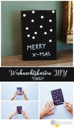 Last-Minute Weihnachtskarte selber basteln? ➯ Gar kein Problem! Auf Roombeez findet Ihr weitere Bastel-Ideen für die Weihnachtszeit ★