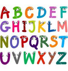 funny fonts free | Funny capital letters alphabet vector 827186 - by Igor_Zakowski