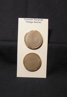 2 Large Vintage Taupe Buttons with Recessed by VictorianWardrobe, $3.00