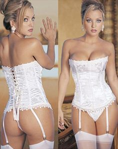 Handmade by the only the most skilled tailors in our factory, this White Stunning corset is also fully lined on the inside for a comfortable wear. Best quality, this classic corset creates a sophistic