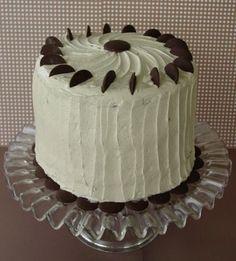 Mile High Devil's Food cake with Cinnamon Brown Sugar Buttercream