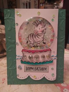 Homemade Christmas Cards, Homemade Cards, Kids Cards, Baby Cards, Kids Birthday Cards, Stamping Up Cards, Shaker Cards, Animal Cards, Snow Globe