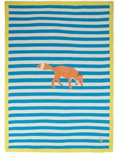 Couverture imprimée renards - Mimi Lou pour Monoprix