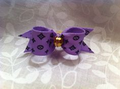 Purple Louie 5/8 Show Dog Bow by poshpupbows on Etsy, $4.00