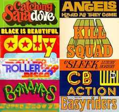 Fonts of the Seventies.