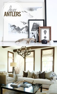 Decorating with Antlers {via My. Daily. Randomness.}