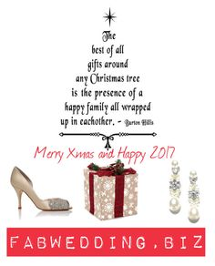 """""""Merry Xmas & Happy 2017"""" by fabwedding ❤ liked on Polyvore"""